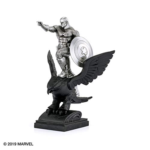 Royal Selangor Hand Finished Marvel Collection Pewter Limited Edition Captain America Resolute Statue Gift image