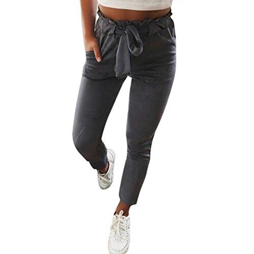 Taille XS-XXXL JOBLINE Pantalon /à Coulisse avec Poches Bleu Marine