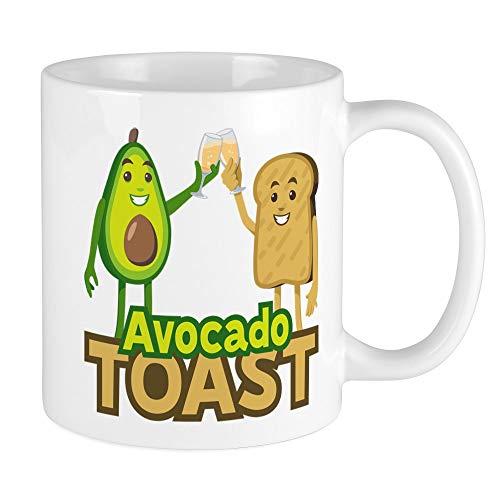 CafePress Emoji Avocado Toast Einzigartige Kaffeetasse Kaffeetasse Teetasse