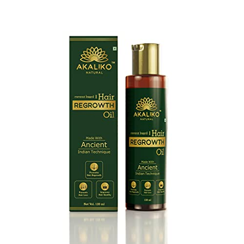 AKALIKO NATURAL Hair Regrowth Oil Controls Hair Fall & Dandruff for Men and Women - All Natural Blend of Coconut, Almond, Curry...