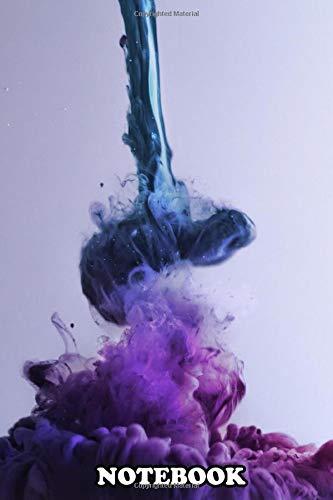 Notebook: Splash Blue Violett , Journal for Writing, College Ruled Size 6