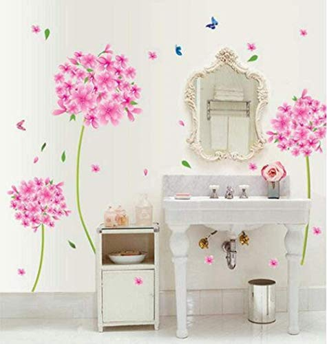 YFKSLAY Rosa BlumenWandaufkleberZitatKüche Esszimmer Home Wandkunst Dekor Aufkleber Tapete Wandfarbe