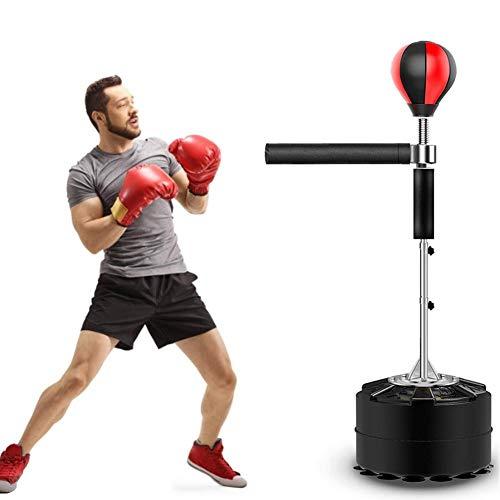 hook.s Professioneller Boxkugel mit schwerem Training, 360 ° -Reflexstange, Boxsack für Erwachsene und Kinder, freistehend, höhenverstellbar, einfache Einrichtung und Stressabbau, 8 Saugnäpfe
