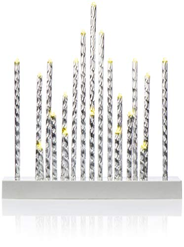 com-four® LED Schwibbogen als Weihnachtsbeleuchtung - Kerzenbrücke mit 20 LEDs - Lichterbogen Pyramide - Fensterleuchter für Weihnachten (01 Stück - 20 LEDs)