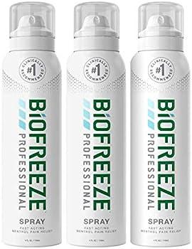 3-Pack Biofreeze Professional Aerosol Pain Relief Spray 4 Oz