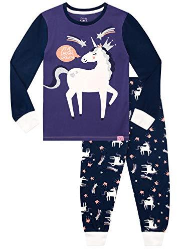 Harry Bear Pijamas para Niñas Ajuste Ceñido Unicornio Morado 9-10 Años
