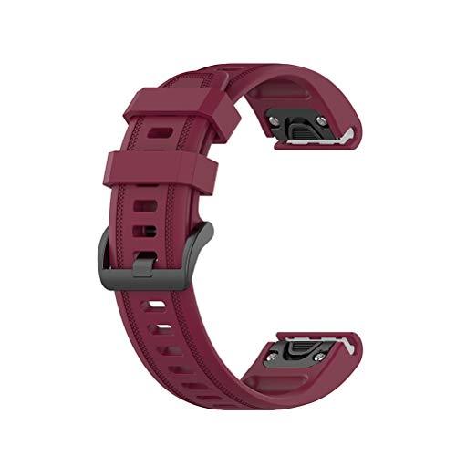 Babitotto Correa de silicona de 20 mm, compatible con fenix 5S Plus, fenix5S, Fenix 5S Plus, fenix6s, Fenix 6S Pro/D2 Delta S Correa de reloj