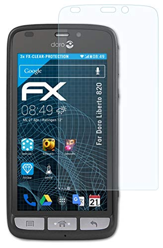 atFolix Schutzfolie kompatibel mit Doro Liberto 820 Folie, ultraklare FX Bildschirmschutzfolie (3X)