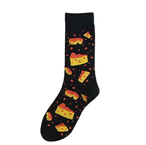 YUXIANGSHANGMAO Divertidos dibujos animados calcetines queso