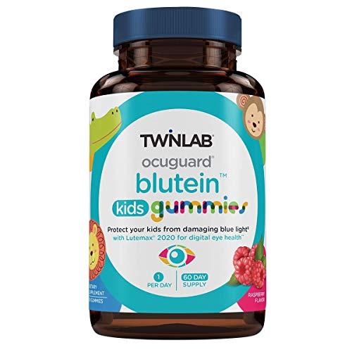 TwinLab Ocuguard Blutein Kids Gummies   60 Count   Contains Zeaxanthin & Lutein for Blue Light Proteciton   Eye Vitamins