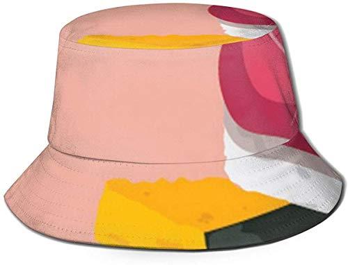 BONRI Atmungsaktive Eimerhüte mit flachem Oberteil Unisex-Wächter der Nudeln Eimerhut Sommerfischerhut - frisch und köstlich Nigiri-One Size