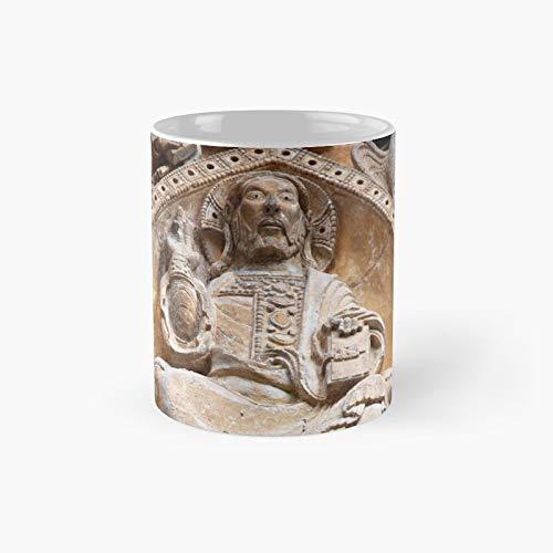 Vesica Piscis God Taza clásica ovalada de 108°   Mejor regalo Divertidas tazas de café 11 oz