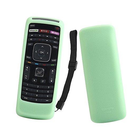 SIKAI Remote Case for Vizio XRT112 / XRV4TV Smart TV Remote Skin-Friendly Silicone Cover for Vizio XRT112 / XRV4TV Remote Control Shockproof Anti-Lost with Remote Loop (Glow in Dark Green)