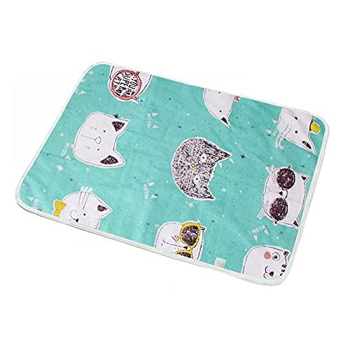 Portatile 1 pz Pannolino per bambini che cambia materassino, stuoia per pannolini per bambini traspirante e impermeabile, tappetino per pannolini neonati, cartone animato stampa materasso 35 * 45 cm p