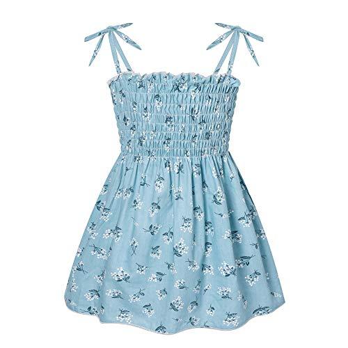 Soapow Ropa de bebé niña impresa vestido de princesa vestido de desgaste al aire libre
