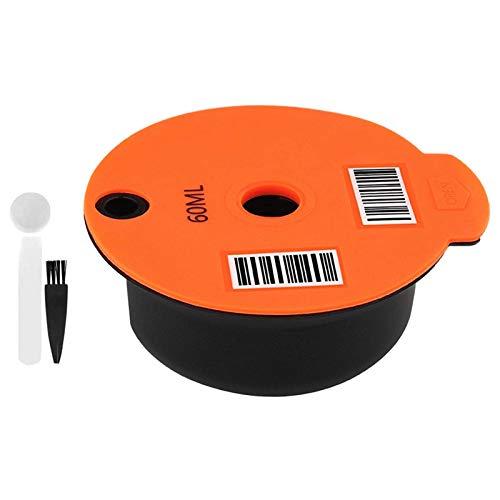 Filtr do kawy wielokrotnego użytku, filtr ze stali nierdzewnej sitodruk kapsułki filtry do kawy, pasuje do ekspresów Bosch Tassimo, pojemność 60 ml/180 ml.