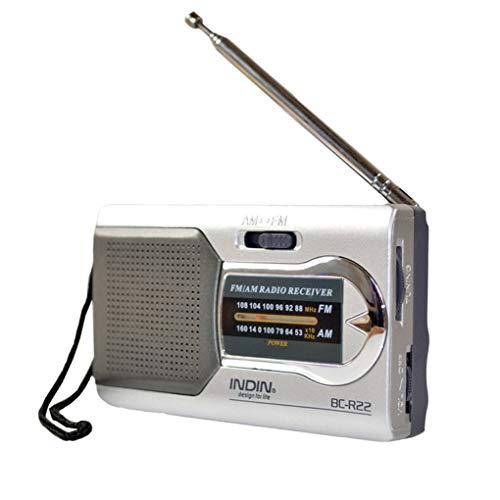 Lsmaa Radio Am Fm, antena telescópica portátil, funciona con pilas, estéreo compacto, duradero y práctico con conector de auriculares estándar, apto para Park Beach