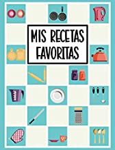 Mis Recetas Favoritas: Libro de Recetas en Blanco - Cuaderno de Recetas para Escribir - Cuaderno de Recetas en Blanco - Libro de Recetas para Escribir - Azul - Aprox. A4 (XXL)