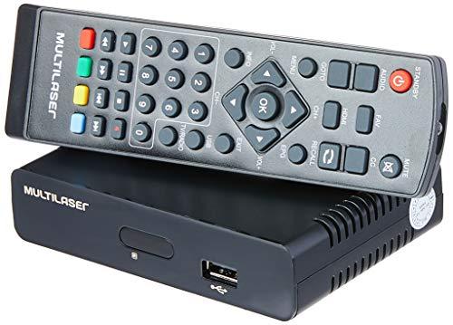 Conversor e Gravador de TV Digital, Multilaser RE207, Preto