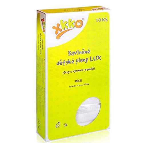 XKKO - (Baumwollwindeln) - Größe 70x70 / Weiss (10 Stück)