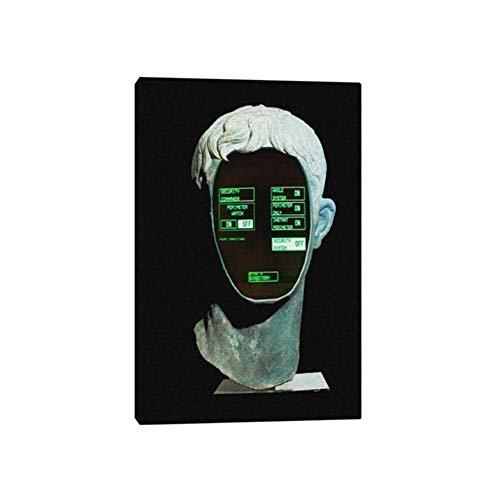 Drucke für Wände 70x90cm Kein Rahmen Cyber Vaporwave Avatar Moderne Kunst Leinwand Poster Malerei Wand Kunst Dekor Wohnzimmer Home Decoration