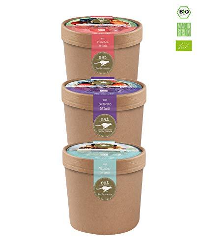 eat Performance Müsli To Go Box (3x 65g) - Bio, Paleo, Glutenfreies Granola Aus 100% Natürlichen Zutaten