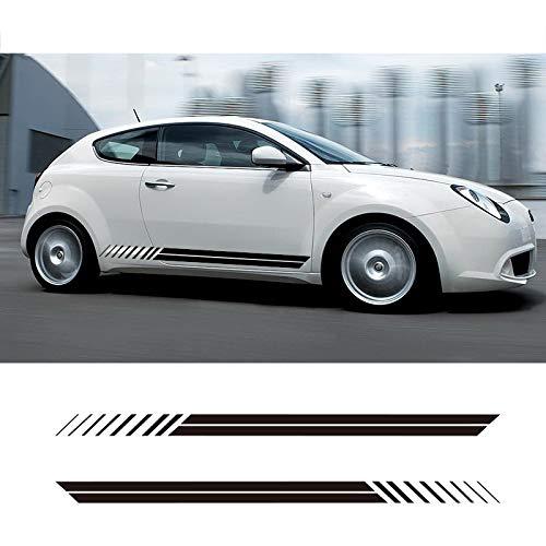 JIERS Für Alfa Romeo Giulia Mito Spide, Autoseitenstreifen Seitenschweller Aufkleber Aufkleber Rennsportwagen Aufkleber
