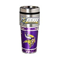 Great American Products Minnesota Vikings 16oz. Stainless Steel Travel Tumbler/Mug