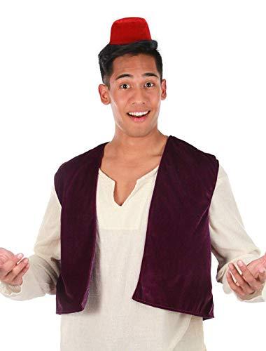 Kit de Chaleco y Aladdin Fez de Disney - rojo - talla nica