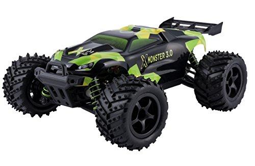 X-Monster 3.1 Truck ferngesteuertes RC Auto 45 km/h, 1:18, 2 Akkus, Allrad, 100m Reichweite, Buggy