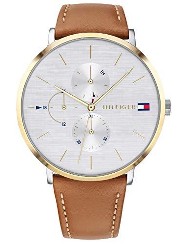 Tommy Hilfiger Damen Multi Zifferblatt Quarz Uhr mit Leder Armband 1781947