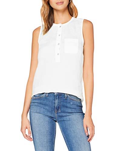 Tommy Hilfiger Damen Penelope Top Ns Hemd, Weiß (White Ybr), 38 (Herstellergröße: 40)