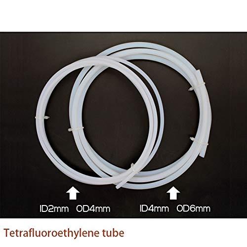 HUANRUOBAIHUO 1 Metro Tubo 2x4 4x6 tetrafluoroetileno Tubo de PTFE Impresora 3D Importado Boquilla Remoto Tubo de guía del Tubo de alimentación de teflón Partes de la Impresora 3D (Size : 4x6)