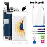 BuTure Écran pour iPhone 6s Remplacement de l'écran LCD avec Outils de Réparation Bouton Accueil Caméra Frontale Haut-Parleur Écran Assemblé iPhone 6s Blanc