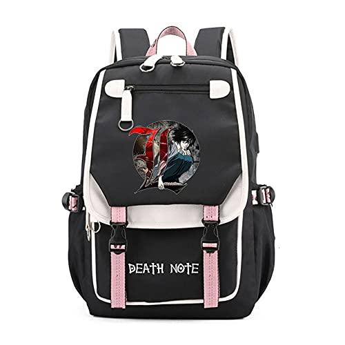SHU-B Death NoteMochila para Chicas Moda Impreso Universidad Bolsas Estudiante Escuela Mochila Laptop Viajes Bolsa Daypack