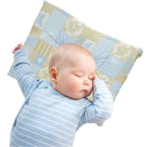 Almohada de bebé utilizada para prevenir la plagiocefalia, previene la cabeza plana de los recién nacidos (azul)