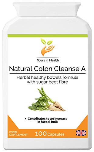 High Quality Natural Colon Cleanse A - Herbal Colon Cleanser and Bowel Support Combination - Manufactured in The UK to high Standards