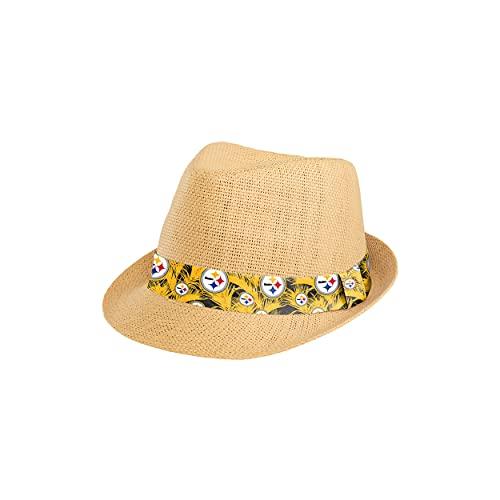 FOCO Pittsburgh Steelers NFL Trilby Straw Hat