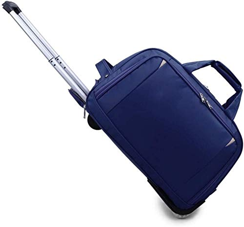 GQY Trolley - fabric suitcases with wheels 2 laptop bag luggage box (Color : Bleu, Size : Small)
