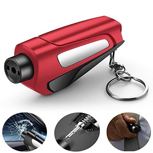 Martillo Rompe Cristales Coche Tarjeta Rompe Cristales Y Cinturones De Emergencia Kit de coche Desglose Kit Coche Kit de seguridad Red,One Size