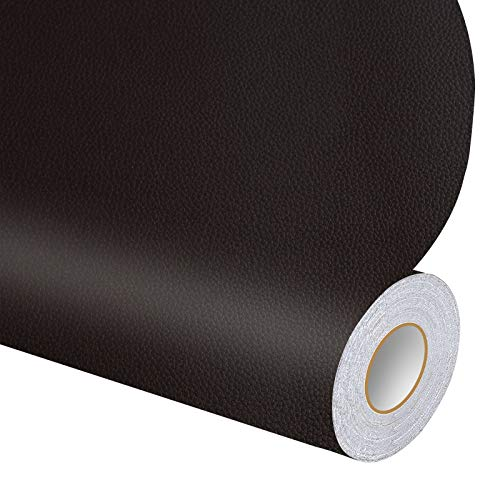 """Leather Repair Tape Patch Leather Adhesive for Sofas, Car Seats, Handbags, Jackets 17.3"""" x 6.5' (Black)"""