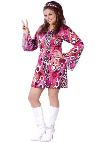 Feelin Groovy Disco Dress Costume Medium/Large Pink