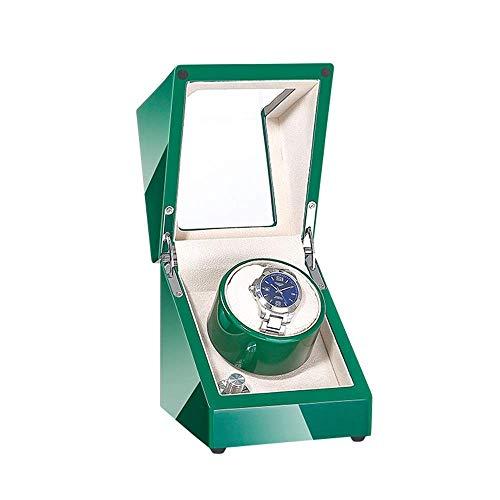 FGVBC Mira enrollador automático de un Solo Reloj, Manualidades con Pintura Verde o Blanca, Dos Modos de accionamiento eléctrico, Motores silenciosos, Relojes para Dama y Hombre en Forma Happy Life