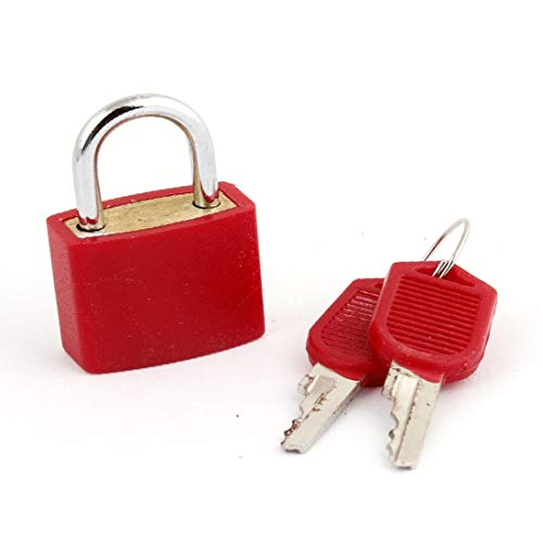New Lon0167 Safety Home Featured Gate Door 23mm Reliable Efficacy Red Lock Padlock w 2 Keys(id:18c d7 26 09a)