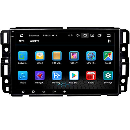 NVGOTEV Car Stereo Navigation Fits for GMC Sierra Yukon Chevrolet Buick Chevy Silverado Auto Audio Multimedia Support Bluetooth WiFi SWC DSP TPMS