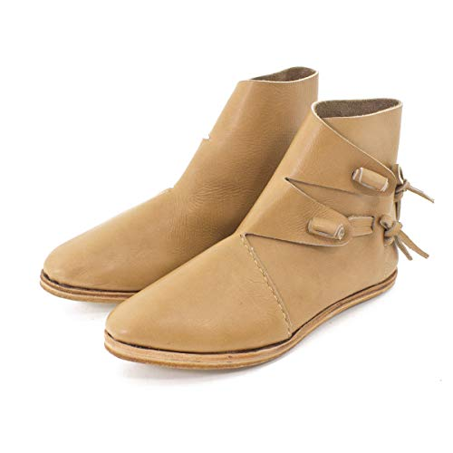 Vehi Mercatus Wikinger-Schuhe oder Mittelalter-Schuhe doppelt besohlt Naturbraun Gr. 37