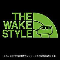 ウェイク ステッカー THE WAKE STYLE【カッティングシート】パロディ シール(12色から選べます) (ライトグリーン)