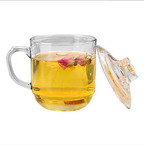 YUEMING Taza de té, Vidrio, Taza de café, Taza Transparente, Vidrio de borosilicato Resistente al Calor, Taza, Taza de té, Taza de Oficina