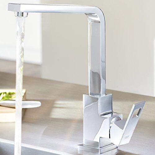 Grohe – Eurocube Küchenarmatur, Schwenkbereich 360°, hoher Auslauf, Chrom - 4