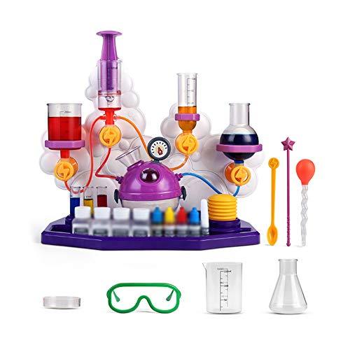 Kids Science Experiment Kit, Pretend Play Science Kit mit Goggles Löffel Spielzeug, Stammspielzeug Geschenk für Kleinkinder Alter 3 4 5 6 7 8 9 10 (Color : Purple, Size : B)